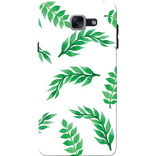 Galaxy J7 Max Case, Galaxy On Max Case, Green Leafs White Slim Fit Hard Case Cover/Back Cover for Samsung Galaxy J7 Max