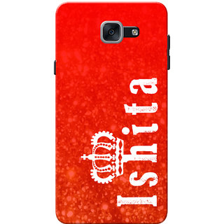 Galaxy J7 Max Case, Galaxy On Max Case, Ishita Red Slim Fit Hard Case Cover/Back Cover for Samsung Galaxy J7 Max