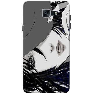 timeless design 68ff5 9444b Galaxy J7 Max Case, Galaxy On Max Case, Anime Girl With Sparkle Hairs Slim  Fit Hard Case Cover/Back Cover for Samsung Galaxy J7 Max