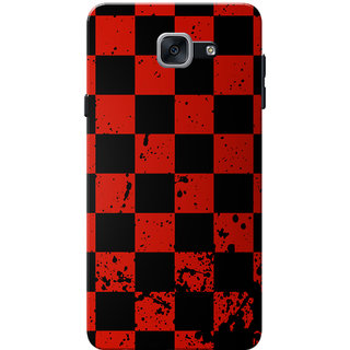 Galaxy J7 Max Case, Galaxy On Max Case, Red Black Checks Slim Fit Hard Case Cover/Back Cover for Samsung Galaxy J7 Max