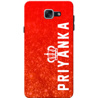 Galaxy J7 Max Case, Galaxy On Max Case, Priyanka Red Slim Fit Hard Case Cover/Back Cover for Samsung Galaxy J7 Max
