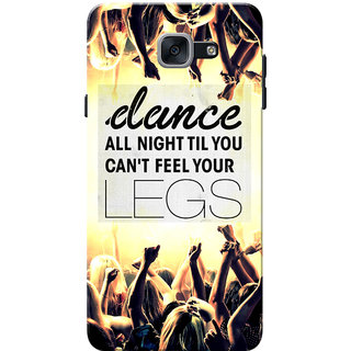 Galaxy J7 Max Case, Galaxy On Max Case, Dance All Night Yellow Black Slim  Fit Hard Case Cover/Back Cover for Samsung Galaxy J7 Max