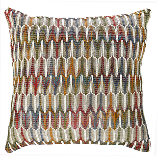 Multi-Color Embroidered Cushion