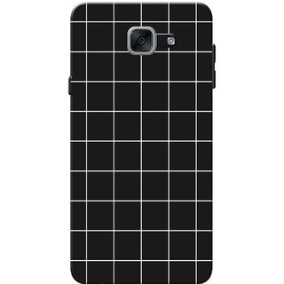 outlet store 88034 cc991 Galaxy J7 Max Case, Galaxy On Max Case, Checks Black White Slim Fit Hard  Case Cover/Back Cover for Samsung Galaxy J7 Max