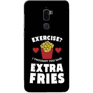 Coolpad Cool 1 Case, Extra Fries Black White Slim Fit Hard Case Cover/Back Cover for Coolpad Cool 1