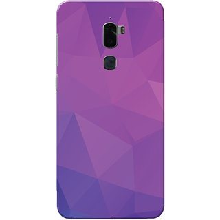Coolpad Cool 1 Case, Purple Shade Crystal Print Slim Fit Hard Case Cover/Back Cover for Coolpad Cool 1