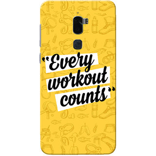 Coolpad Cool 1 Case, Every Workout Counts Yellow Slim Fit Hard Case Cover/Back Cover for Coolpad Cool 1