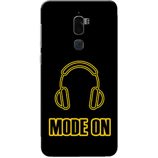 Coolpad Cool 1 Case, Music Mode On Yellow Black Slim Fit Hard Case Cover/Back Cover for Coolpad Cool 1