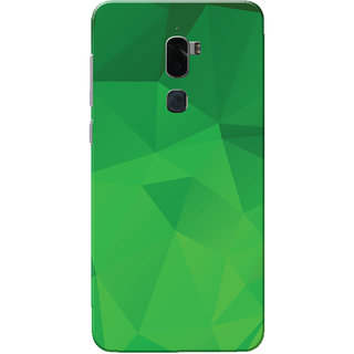 Coolpad Cool 1 Case, Green Shade Crystal Print Slim Fit Hard Case Cover/Back Cover for Coolpad Cool 1
