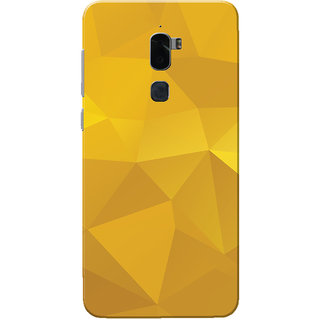 Coolpad Cool 1 Case, Yellow Shade Crystal Print Slim Fit Hard Case Cover/Back Cover for Coolpad Cool 1