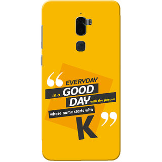 Coolpad Cool 1 Case, Name Starts With K Yellow Orange Slim Fit Hard Case Cover/Back Cover for Coolpad Cool 1