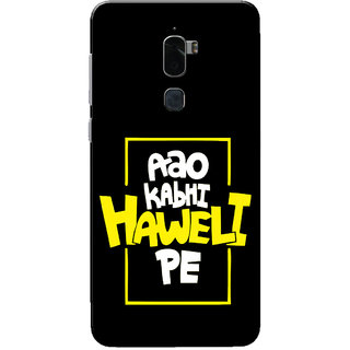 Coolpad Cool 1 Case, Aao Kabhi Haweli Pe Black Slim Fit Hard Case Cover/Back Cover for Coolpad Cool 1