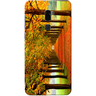Coolpad Cool 1 Case, Autumn Forest Yellow Orange Slim Fit Hard Case Cover/Back Cover for Coolpad Cool 1