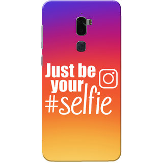 Coolpad Cool 1 Case, Just Be Your Selfie Slim Fit Hard Case Cover/Back Cover for Coolpad Cool 1