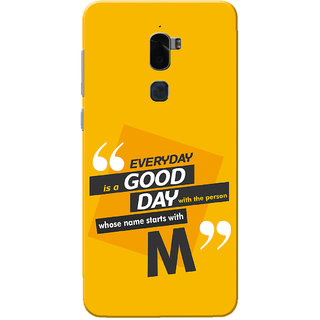 Coolpad Cool 1 Case, Name Starts With M Yellow Orange Slim Fit Hard Case Cover/Back Cover for Coolpad Cool 1