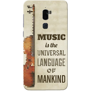 Coolpad Cool 1 Case, Music Is The Universal Language Slim Fit Hard Case Cover/Back Cover for Coolpad Cool 1