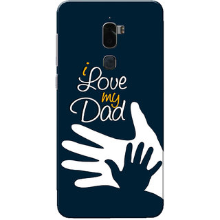 Coolpad Cool 1 Case, I Love My Dad Navy Blue Slim Fit Hard Case Cover/Back Cover for Coolpad Cool 1