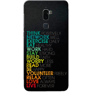 Coolpad Cool 1 Case, Think Positively Rainbow Black Slim Fit Hard Case Cover/Back Cover for Coolpad Cool 1