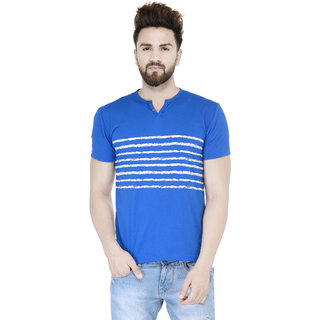Teesort Half Sleeve Blue Printed T-shirt