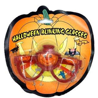 Funcart Halloween Bilinking LED Red & Orange Eye Glasses
