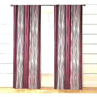 POOJA COTTON ABSTRACT PRINT CURTAINS ( 7FEET 4 FEET 2 PIS COMBO PACK )