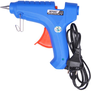 Geetanjali Decor RITUNE  RT-60W Hot Melt Standard Temperature Glue Gun Blue With 3 GlueSticks