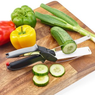 Traders5253 Clever Cutter - 2 in 1 Kitchen Knife and Chopping Board India To Replace All Your Kitchen Knives s4d 11