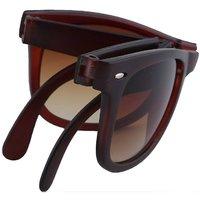 Austin Brown Folding Wayfarer Sunglasses