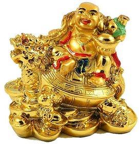 ReBuy Big Laughing Buddha With Dragon  Tortoise/Fortune, Wealth  Pro Happy Man