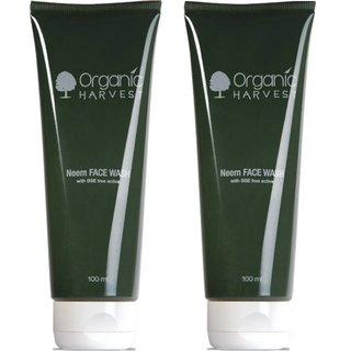 Organic Harvest Neem Face wash 100 ml (Pack of 2)