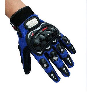 MOCOMO Probiker Motorcycle Bike Racing Riding Gloves Glove Blue Colour Pro-biker-LARGE