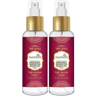 Simply Herbal Morrocan Argan Total Repair Instant Smoothing Hair Serum For Frizzy Hair to Dry Hair