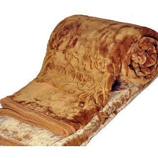 Angel homes Gold Embroidery Double Blanket