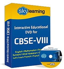 CBSE Class 8 CD/DVD Combo Pack English, Maths, Science, Hindi Vyakaran, Compute
