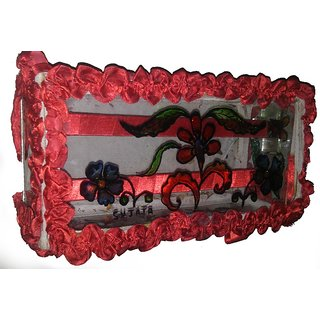 Stylish Glass Made  Jewelry Box Multicolor