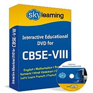 CBSE Class 8 CD/DVD Combo Pack English, Maths, Science, Hindi Vyakaran, Compute