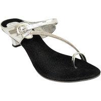 Altek Stylish Silver Patent Heel For Women (foot-1389-s