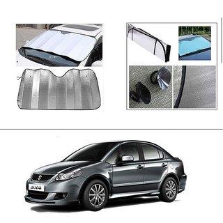 AutoStark Car Front Windshield Sunshade Double-Side Silver Bubble Cotton Rear Sun Shade For Maruti Suzuki SX4