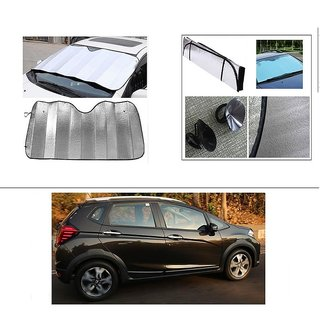 AutoStark Car Front Windshield Sunshade Double-Side Silver Bubble Cotton Rear Sun Shade For Honda WR-V