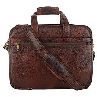 ef2d929ec4e Buy 100 Genuine Leather Laptop Bag Brown two-tone for Men Online - Get 55%  Off