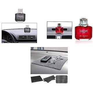 love4ride Combo Car Dashboard Non Slip mat + Concept Car Perfume