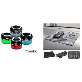 Combo Car Dashboard Non Slip mat + My Tone Air Freshner Car Perfume