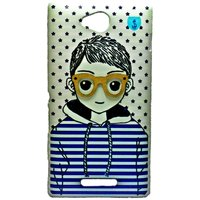COCORONI The Boy & Girl Designer Hard Back Shell Cover Case For Xperica C