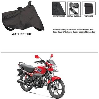 AutoStark Premium Quality Waterproof Double Stiched Bike Body Cover With Heavy Buckle Lock & Storage Bag For Hero Passion Pro