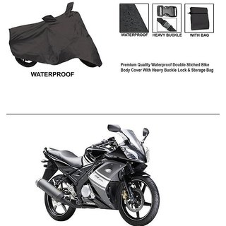 AutoStark Premium Quality Waterproof Double Stiched Bike Body Cover With Heavy Buckle Lock & Storage Bag For Yamaha YZF R15 S