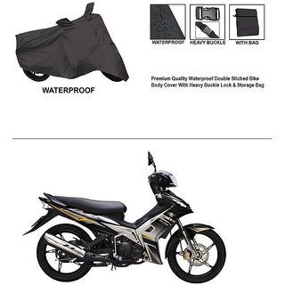 AutoStark Premium Quality Waterproof Double Stiched Bike Body Cover With Heavy Buckle Lock & Storage Bag For Yamaha Jupiter
