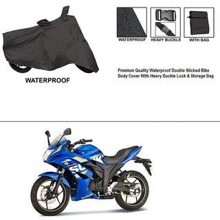 AutoStark Premium Quality Waterproof Double Stiched Bike Body Cover With Heavy Buckle Lock & Storage Bag For Suzuki Gixxer SF