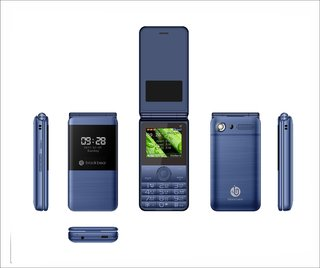 Blackbear i7 Trio Flip Phone (Dual Sim, 2.0 Inch Display, 1550 Mah Battery, Blue)