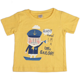 Pikaboo Sailor Printed Kinitted Cotton T Shirt For Boy (6-12 Months)