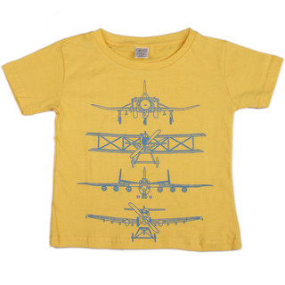 Pikaboo Aircraft Printed Kinitted Cotton T Shirt For Boy (2-3 Years)